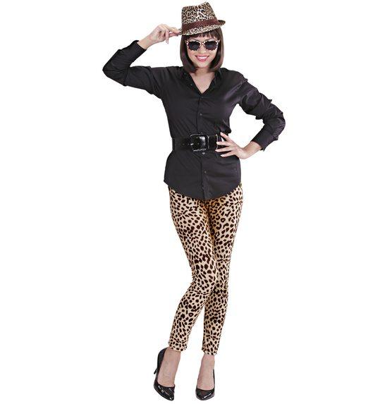 Legging met luipaardprint