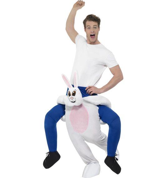 Piggyback konijn kostuum